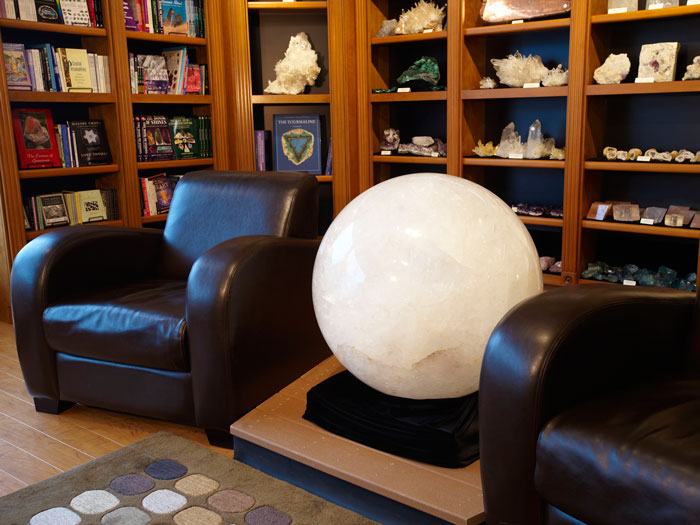 Giant Brazilian quartz sphere