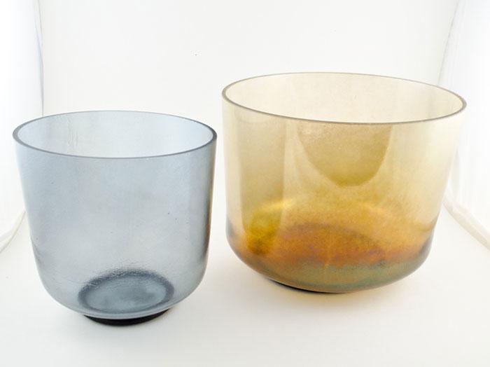 Crystal singing bowls for meditation