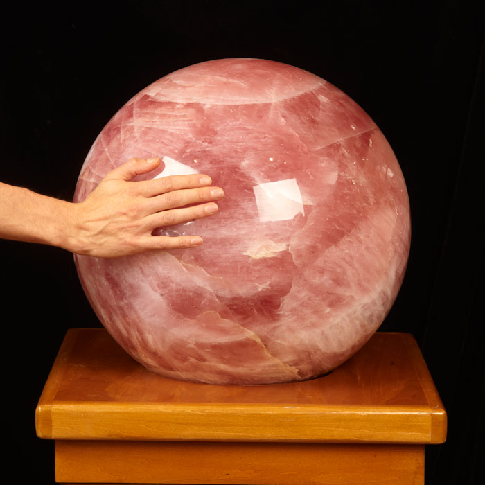 Giant Star Rose Quartz Sphere