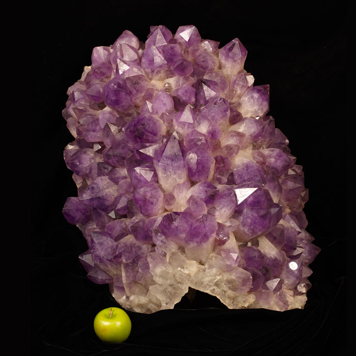 Large and rare Bolivian amethyst cluster
