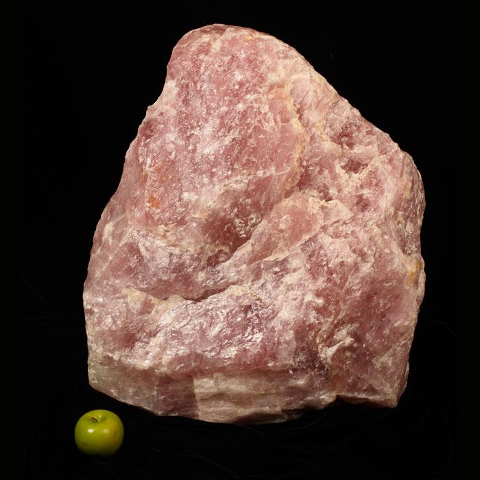 Large rose quartz specimen